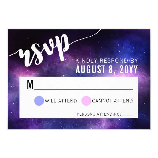 Galaxy Celestial Stars Wedding Invitation RSVP