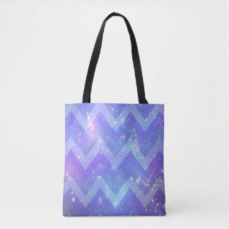 Galaxy Chevron Tote Bag