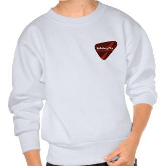 Galaxy City Inverted Pyramid Closeup Patch Pullover Sweatshirt