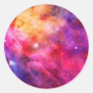 Galaxy Classic Round Sticker