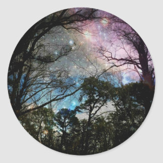 Galaxy Classic Round Sticker