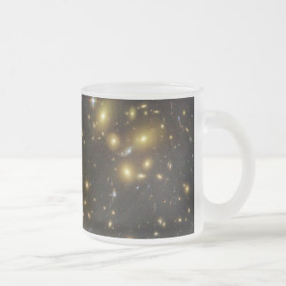 Galaxy Cluster Abell 1689 in Constellation Virgo Frosted Glass Coffee Mug