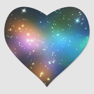 Galaxy Cluster Abell 520 Heart Sticker