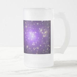 Galaxy Cluster Frosted Glass Beer Mug