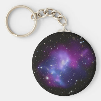 Galaxy Cluster MACS J0717 Basic Round Button Key Ring