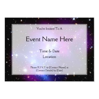 Galaxy Cluster MACS J0717 (Hubble Telescope) 13 Cm X 18 Cm Invitation Card