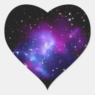 Galaxy Cluster MACS J0717 (Hubble Telescope) Heart Sticker