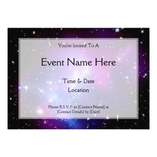 Galaxy Cluster MACS J0717 (Hubble Telescope) Custom Invitations
