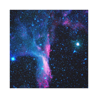 Galaxy Cosmic Dancer in space Stretched Canvas Print
