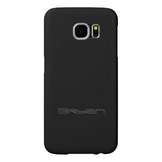 Galaxy cover in Black Design for Bryan Samsung Galaxy S6 Cases