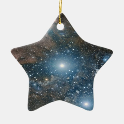 Galaxy Double-Sided Star Ceramic Christmas Ornament