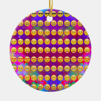 Galaxy Emojis Christmas Ornament