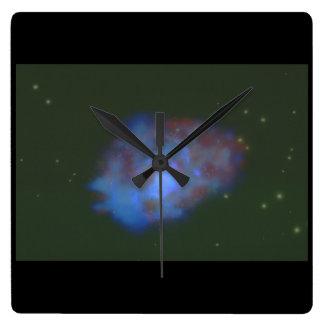 Galaxy. (galaxy;space;stars;cloud_Space Scenes Clock