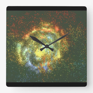 Galaxy. (galaxy;space;stars;co_Space Scenes Clock