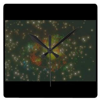 Galaxy. (galaxy;space;stars;colors._Space Scenes Clocks