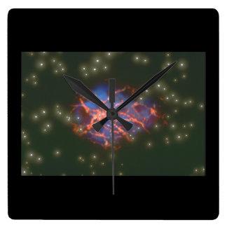 Galaxy. (galaxy;space;stars;colors;)_Space Scenes Wall Clocks