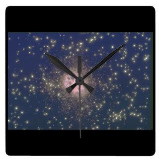 Galaxy. (galaxy;space;stars;nebula_Space Scenes Wall Clock