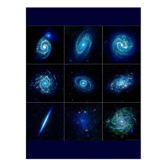 Galaxy Gallery - Nine Spectacular Galaxies Postcard
