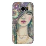 Galaxy Girl Bohemian Gypsy Fantasy Art Portrait Samsung Galaxy S6 Cases