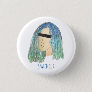 Galaxy Girl Pinback Button