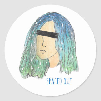Galaxy Girl Stickers