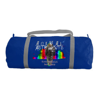 Galaxy Goat Animal Astronaut Rainbow Universe Gym Duffel Bag