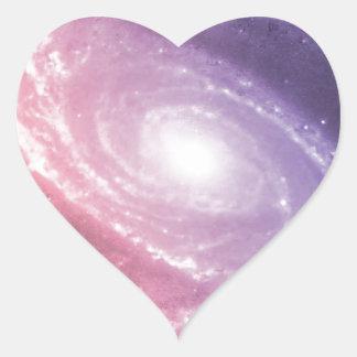 Galaxy Gradient Space Art Sticker
