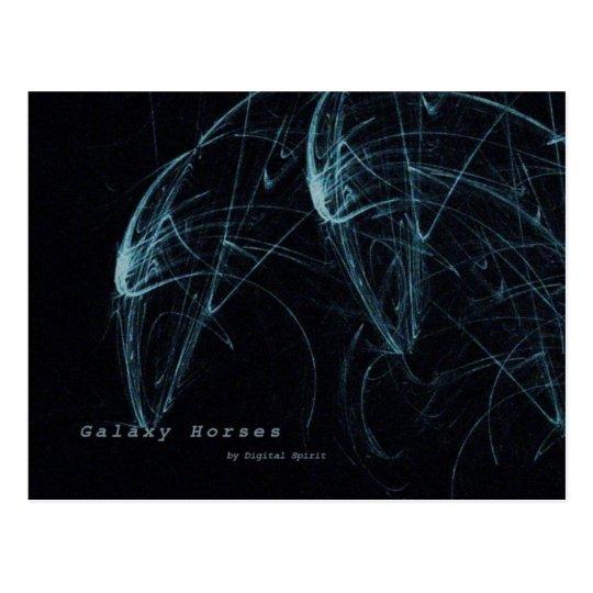 Galaxy Horses Postcard
