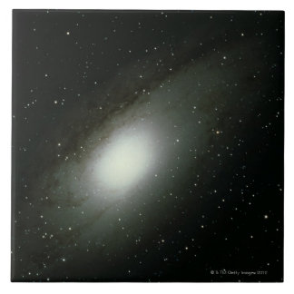 Galaxy in Andromeda Large Square Tile