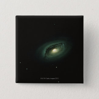 Galaxy in Coma Berenices 15 Cm Square Badge