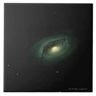 Galaxy in Coma Berenices Large Square Tile