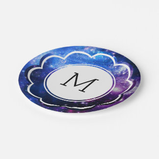 Galaxy Initial Paper Plate