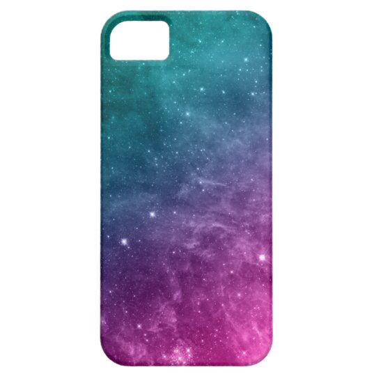 Galaxy iPhone 5/5S Case Stars Teal Purple Pink