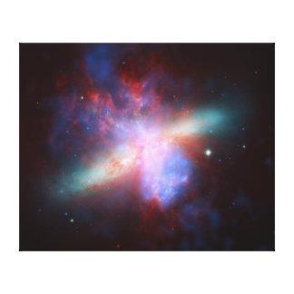 Galaxy M82 Hubble NASA Stretched Canvas Print