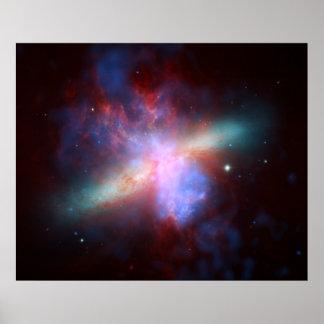 Galaxy M82 Hubble NASA Poster