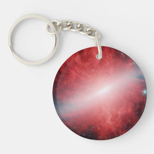Galaxy M82 Infrared Spitzer Telescope Acrylic Key Chain