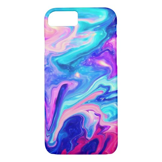 Galaxy Marble Modern Abstract Watercolor iPhone 7 iPhone