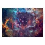 Galaxy Nebula space image. Cards