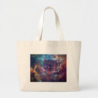 Galaxy Nebula space image. Canvas Bags