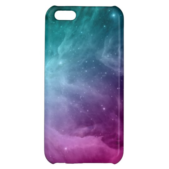 Galaxy Nebula Stars Teal Pink Clouds iPhone 5C