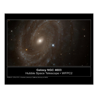 Galaxy NGC 4603 Hubble Telescope Photo Poster