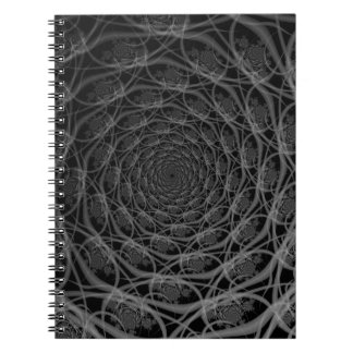 Galaxy of Filaments in Black and White Notebook