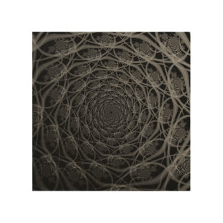 Galaxy of Filaments in Black and White Wood Canvas