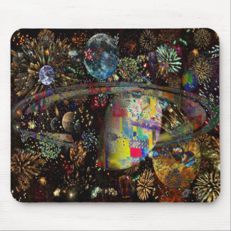 Galaxy of Fireworks Collage Planets  2859b Mouse Pad