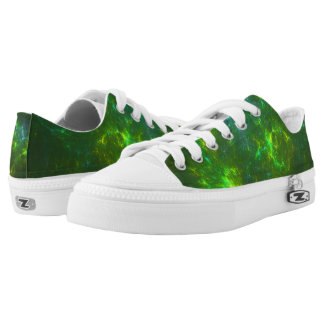 Galaxy of Green Low Tops