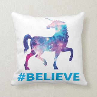 Galaxy Pattern Unicorn Believe Design Cushion