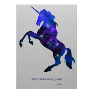 Galaxy pink beautiful unicorn sparkly image poster