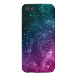Galaxy Pink Blue Green Teal Stars Nebula iPhone 5/5S Case