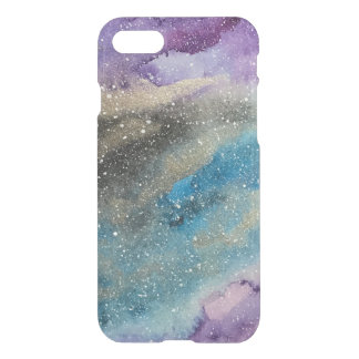 Galaxy Print Outer Space Watercolor Clear Case
