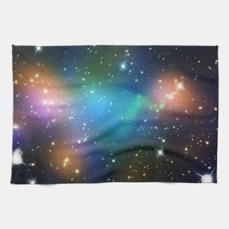 Galaxy Print Stars Nebula Colorful Space Pattern Tea Towel